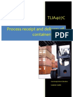 TLIA407C - Process Receipt and Delivery of Containers Cargo - Learner Guide
