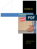 TLIA807C - Transfer Cargo - Learner Guide