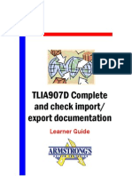 TLIA907D - Complete and Check Import Export Documentation - Learner Guide