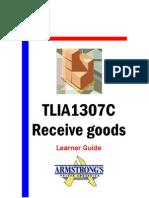 TLIA1307C - Receive Goods - Learner Guide