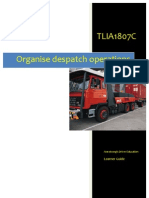 TLIA1807C - Organise Despatch Operations - Learner Guide