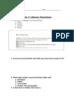unit 1 quiz literary structure