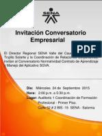 Invitación Conversatorio Empresarial