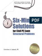 Structures Problems 6 Minute problems