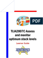 TLIA2807C - Assess and Monitor Optimum Stock Levels - Learner Guide