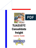TLIA3107C - Consolidate Freight - Learner Guide