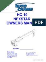 HC-10 NexStar Owners Manual
