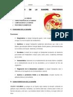 GENERALIDADES DE LA SNGRE. PROTEÍNAS PLASMÁTICAS
