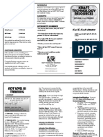 Karl Kraft's 2014 Level III brochure