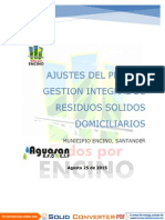 Actualización Pgirs Encino 2015