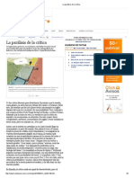 "Gonzalo Garcés, ""La parálisis de la crítica"""
