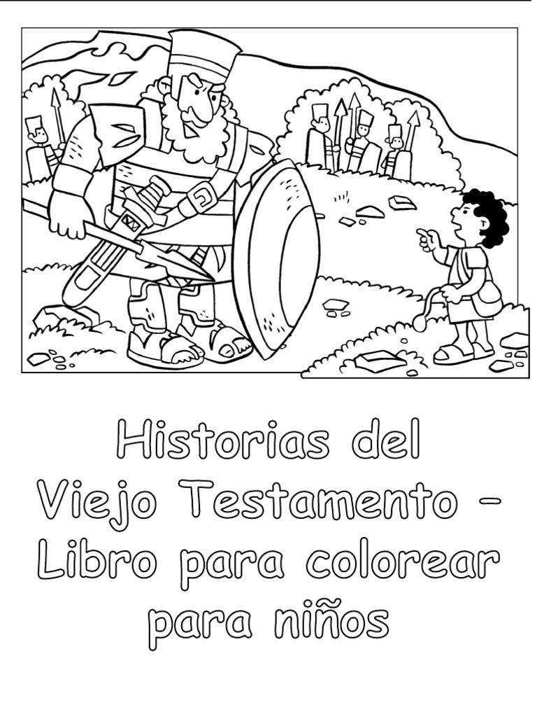 Historias Del Viejo Testamento - Libro Para Colorear Para Niños