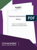 Etapa 3. La Consolidacion de Las Instituciones y El Estado Mexicano