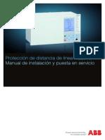 Manual de Instalacion y Puesta en Servicio Proteccion de Distancia de Linea REL670