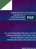 20150901 Letra Eres Santo - Marcos Witt