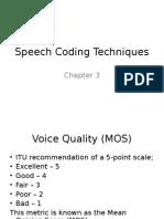 Lecture 3 Speech Coding Techniques