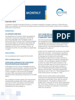 September 2015 Compliance Monthly