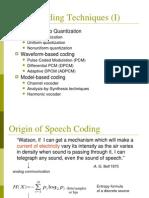 Speech Coding 1