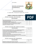 Informe Primer Nivel de Transición