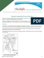 Hombro Congelado (Frozen Shoulder)-OrthoInfo - AAOS
