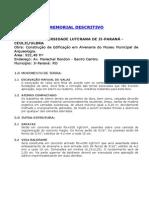 Memorial Descritivo - Pp2
