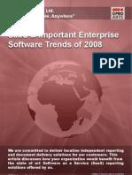 SaaS & Important Enterprise Software Trends of 2008