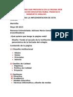 Requisitos Para Dar Presencia en La Página Web a La Institución Educativa Rural Francisco Manzueto Giraldo.