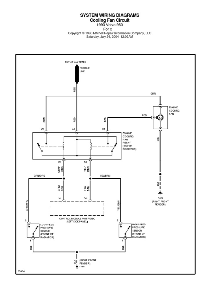 Volvo 960 Wiring Diagrams 1993