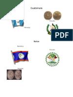 Banderas, Monedas y Escudos y Heroes de Centro America