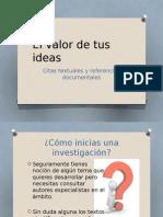 El Valor de Tus Ideas