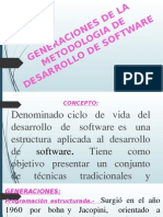 Generaciones de La Metodologia de Desarrollo de Software