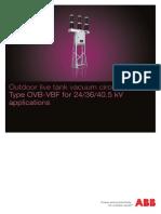 ABB BR_OVB-VBF Outdoor Live Tank Vacuum Breaker