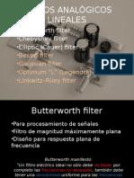 FILTROS ANALÓGICOS LINEALES
