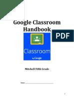 google classroom handbook