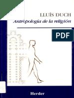 Antropología de La Religión Duch.lluis 2001