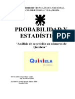 Posibilidad de acierto en QUINIELA