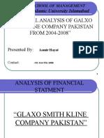 "PowerPiont Presentation of Project "" Analysis of Financial Statements of Glaxosmithkline Pakistan"""