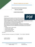 Certificación Prestación de Servicios - Todo en La Internet