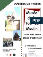 dossier de presse Musée de la Tour du Moulin Marcigny (71)