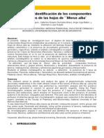 Analisis Fitoquímco de la mora blanca  Morus Alba