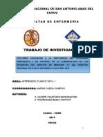 Trabajo de Investigacion de TUBERCULOSIS