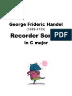 George Frideric Handel (1685–1759) -Sonata in C Major.