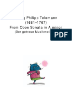 Georg Philipp Telemann (1681–1767) - From Oboe Sonata in a Minor