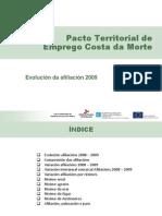 EVOLUCIÓN AFILIACIÓN 2009. PTE Costa da Morte