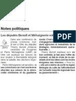 Soutien de Thierry Benoit et Pierre Méhaignerie à Bernadette Malgorn