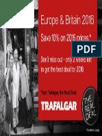 Trafalgar Europe & Britain 2016 Preview