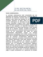 Diagnóstico Del Sector Metalmecánico en Las Mype Del Perú