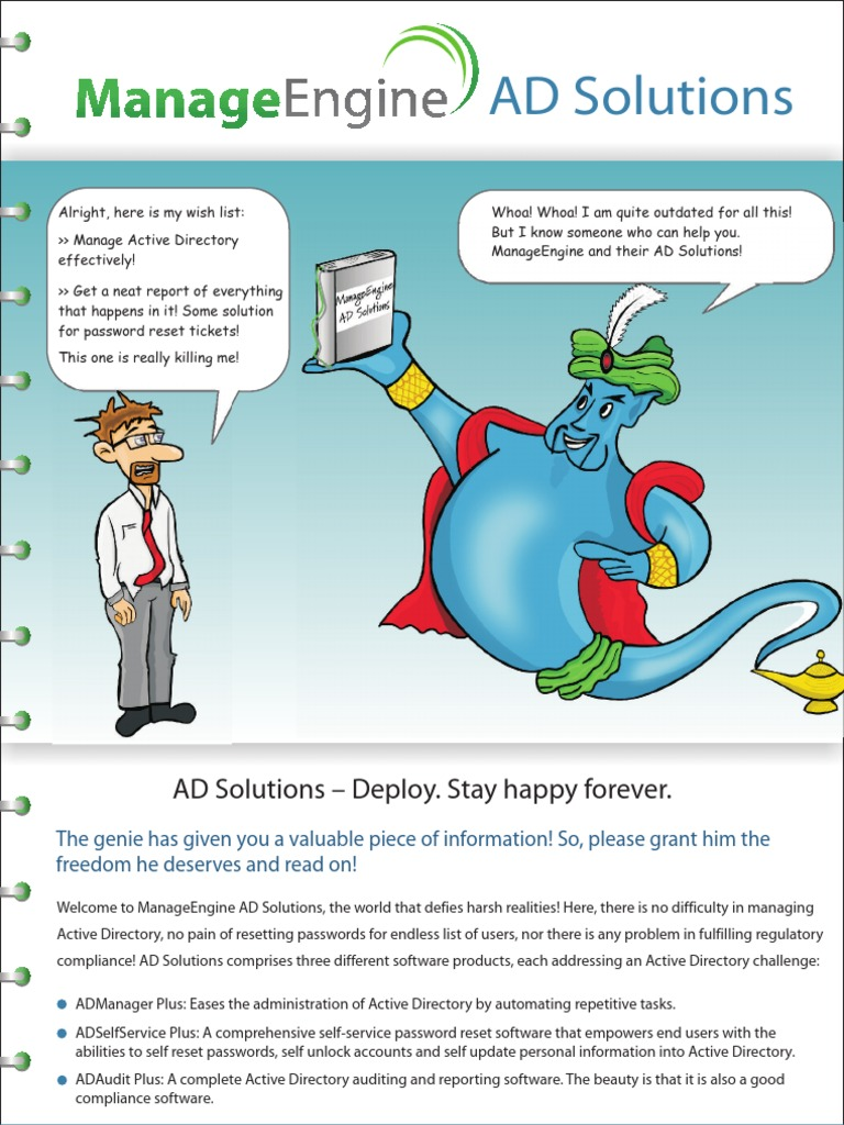 Ad Solutions Brochure | Active Directory | Password