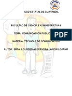 TECNICAS COMUNICACION PUBLICITARIA