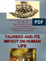 TAUHEED AND ITS IMPACT ON HUMAN LIFE